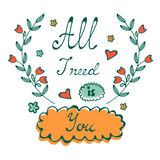All I need is You Love concept Royalty Free Stock Images