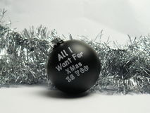 All i want for christmas is you ball Royalty Free Stock Images