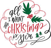 All I Want for Christmas Is You Royalty Free Stock Photography
