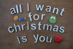 All I want for Christmas is you Royalty Free Stock Image