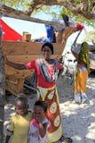 All'iarda Dhow costruziona, Nungwi, Zanzibar, Tanzania Immagini Stock