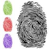 All'impronta digitale illustrazione vettoriale