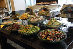 All inclusive restaurant. A large selection of dishes at the all inclusive restaurant Stock Images