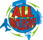 All inclusive - special offer vector illustration