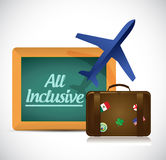 All inclusive travel concept illustration design Royalty Free Stock Photography