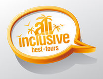 All inclusive vector speech bubble Royalty Free Stock Images