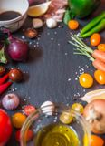 Plate full of vegetables from italy royalty free stock image