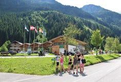 All'inizio di alta strada alpina di Grossglockner, Ferleiten, Austria Fotografie Stock Libere da Diritti