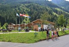 All'inizio di alta strada alpina di Grossglockner, Ferleiten, Austria Fotografia Stock