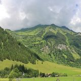 All'inizio di alta strada alpina di Grossglockner, Ferleiten, Austria Immagini Stock
