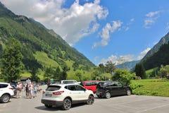 All'inizio di alta strada alpina di Grossglockner, Ferleiten, Austria Immagini Stock Libere da Diritti