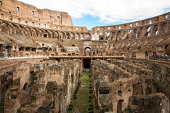 All'interno del Colosseum Fotografia Stock