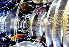 All'interno del mondo del metallo del motore del turbo Fotografie Stock Libere da Diritti