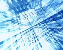 All'interno del sistema della fibra Fotografia Stock