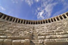 All'interno del teatro di Aspendos Fotografie Stock Libere da Diritti
