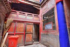 All'interno del tempiale tibetano Immagine Stock