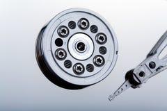 All'interno dell'azionamento duro del calcolatore. immagine stock