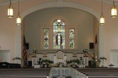 All'interno della chiesa Fotografie Stock