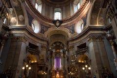 All'interno della chiesa della st Peter a Vienna Fotografia Stock