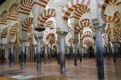 All'interno di Mezquita di Cordova, la Spagna Fotografia Stock
