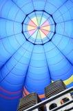 All'interno di un aerostato di aria calda immagine stock libera da diritti