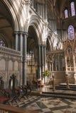 All'interno di una cattedrale Immagine Stock Libera da Diritti