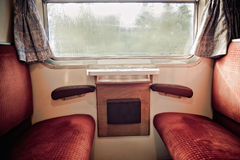 All'interno di vecchio treno Immagine Stock