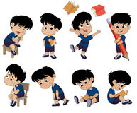 All of kids different pose about learning.back to school. Vector and illustrator royalty free illustration