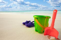 All the kids need on the beach Stock Photography