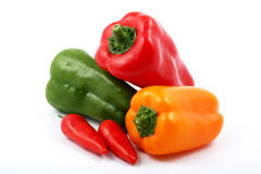 All kind of peppers Stock Photography