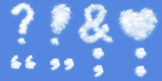 All kind punctuation mark in clouds form
