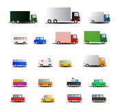 All kind of transportations vehicle Stock Photo