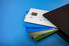 All kinds of bank cards royalty free stock images