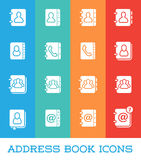 All Kinds of Contact Us Address Book Icons in Vector  fo Stock Photography