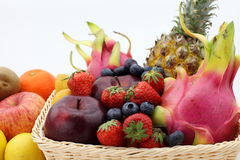All kinds of fruit Stock Images