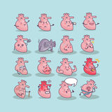 All kinds of heart concept. All kinds of heart, great for health care concept Royalty Free Stock Image