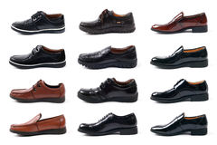 All kinds of men's leather shoes Stock Image
