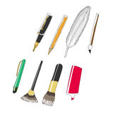 All kinds of pen royalty free stock photo