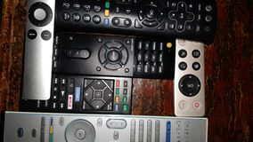 All kinds of retro remote controls stock images