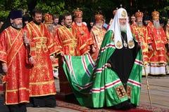 all kirillmoscow patriark russia Royaltyfria Foton