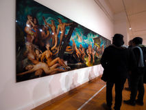all konst filtrerade för fotobilder för gallerit bara den hela väggen Royaltyfria Foton