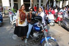 All kvinnacykel samlar Royaltyfri Foto