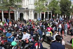 All kvinnacykel samlar Royaltyfria Foton