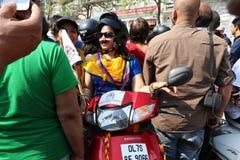 All kvinnacykel samlar Fotografering för Bildbyråer