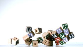 All letters of alphabet blocks dropping down Royalty Free Stock Image