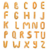 All letters composed of chips Royalty Free Stock Image
