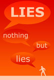All lies. Nothing but the lies and hard to find out the truth Stock Photo