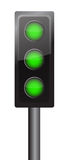 All lights in green Royalty Free Stock Image
