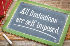 All limitations are self imposed - blackboard Royalty Free Stock Image