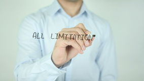All Limitations Are Self Imposed, Writing On Transparent Screen stock footage
